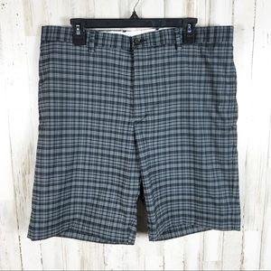 Greg Norman Plaid Checkered Men's Shorts Golf 36